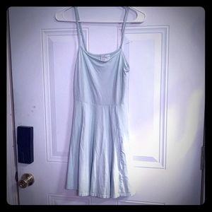 Divided Mint Green Summer Dress